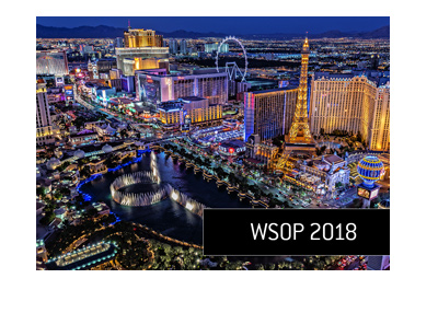 The Las Vegas strip during the 2018 World Series of Poker tournament - Areal view.