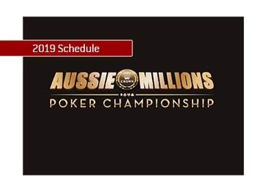 The schedule for the 2019 Aussie Millions poker tournament has been released.