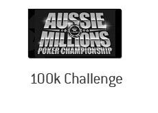 100k challenge - aussie millions logo