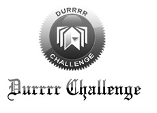 tom dwan - durrrr challenge - logo - black and white
