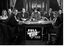 players sponsored by full tilt poker room sitting around a table