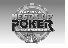 black and white logo national heads-up poker championships