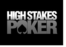 gsn tv show logo - high stakes poker - black and white - season five