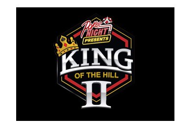 The King of the Hill II (2) - Full logo on black background - The year is 2017.