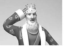poker king in black and white edition is scratching his head