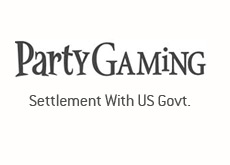 partygaming logo black and white - settlement with the united states government
