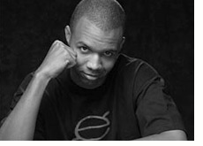 poker player phil ivey - black and white photo