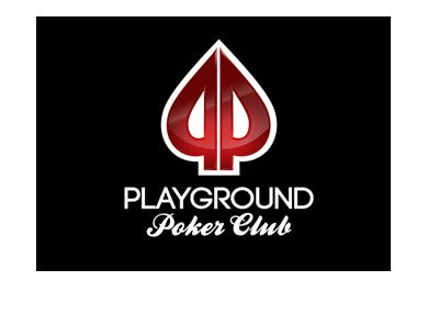 Playground Poker Club - Logo - Black background.