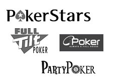 logo - pokerstars, full tilt, ipoker network, party poker