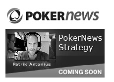 logo for company pokernews and strategy section with Patrik Antonius