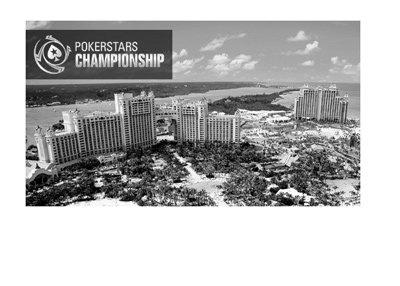 Pokerstars Championship - Bahamas - Promo image in black and white.