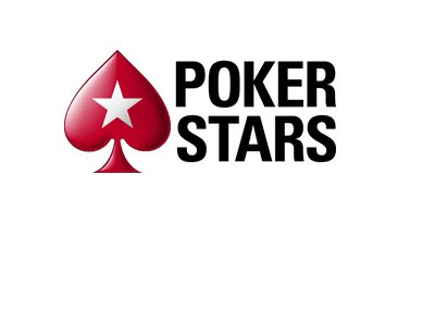 The 2017 version of the Pokerstars logo on white background.  Poker is on a separate line from Stars.