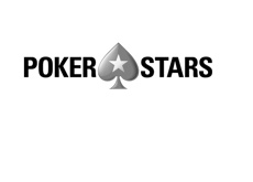 Pokerstars logo in black and white. Year is 2016.