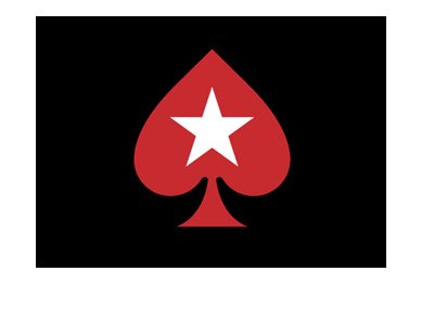 Pokerstars logo - Isolated spade star - Red on black background.