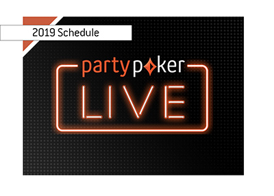 partypoker has released their Live schedule for year 2019.