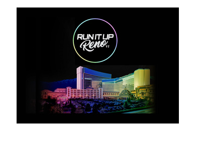 Run It Up Reno IV - Poker tournament - logo and graphic - Year is 2018.