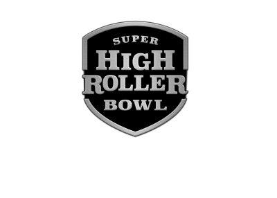 The Super High Roller Bowl logo - 2017 - Black and white.
