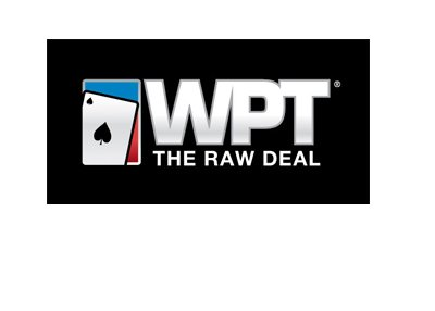The World Poker Tour - The Raw Deal - Tournament segment logo - Black background.