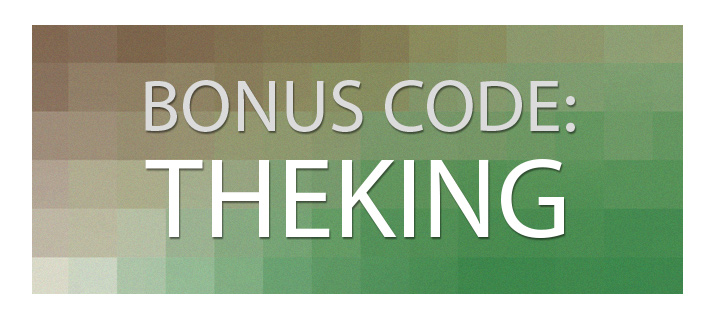 Sign up using the bonus code: THEKING and receive instant benefits.