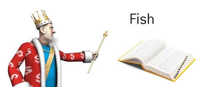 The definition and meaning of the term Fish when it comes to the game of poker. What is the example of Fish?